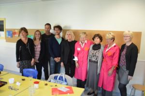 Remise du chèque au centre Constanzo (Hôpital Lenval) avec la participation des blouses roses 2015