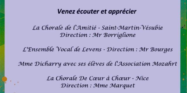 Concert de Chorales église Sainte-Hélène à Nice